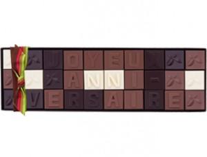 Message Joyeux anniversaire en chocolat trouvé sur chocolatdeneuville.fr